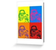Pop art Lebowski Greeting Card