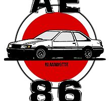 Toyota AE86 by Klaaamotte