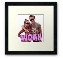 Zoe and Joe Sugg Framed Print