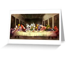 Pokemon Last Supper Greeting Card