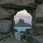 Lindisfarne Castle Through The Wall. by Dave Staton