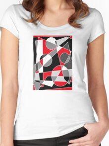 Abstract #101 Women's Fitted Scoop T-Shirt