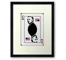 Underwood Playing Card Framed Print