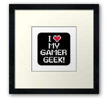 Gamer geek Framed Print