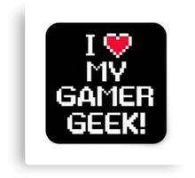 Gamer geek Canvas Print