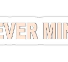 BTS / NEVER MIND / TYPOGRAPHY / VERSION #2 Sticker