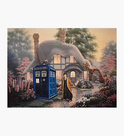 Something odd in the Garden Photographic Print