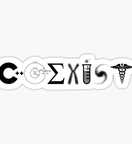 Science Coexist Sticker
