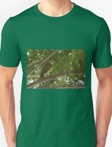 Little Owl (Athene noctua) in a tree Unisex T-Shirt