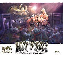 Dinosaur Rock Concert by MudgeStudios