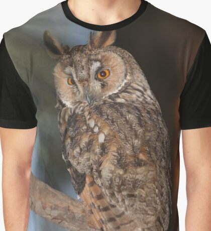Long-eared Owl (Asio otus) in a tree Graphic T-Shirt