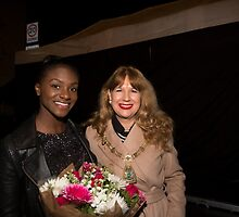 Dina Asher-Smith Britain's fastest female teenage runner, switches on the Christmas lights in Orpington by Keith Larby