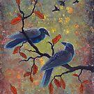 Autumn Ravens by katemccredie