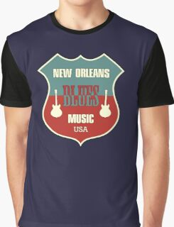 Vintage New Orleans Blues  Graphic T-Shirt