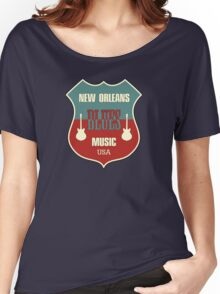 Vintage New Orleans Blues  Women's Relaxed Fit T-Shirt