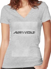 Airwolf Retro II Women's Fitted V-Neck T-Shirt