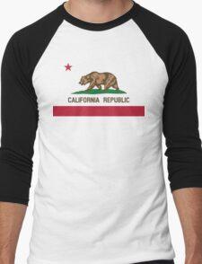 California Flag Men's Baseball ¾ T-Shirt