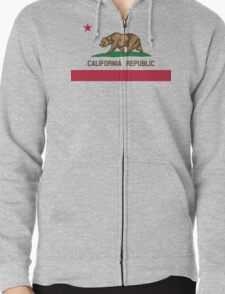 California Flag Zipped Hoodie