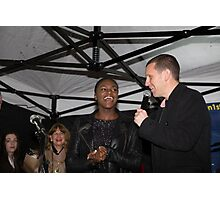 Dina Asher-Smith, Britain's fastest female teenage runner, switches on the Christmas lights in Orpington Photographic Print