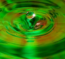 Green water drop by SteveHphotos