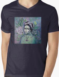 Magical Girl Frida Mens V-Neck T-Shirt