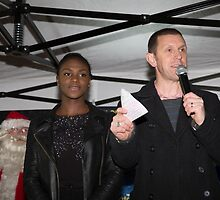 Dina Asher-Smith, Britain's fastest female teenage runner, switches on the Christmas lights in Orpington by Keith Larby