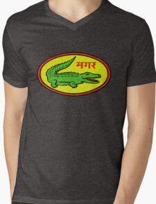 Funky Crocodile Mens V-Neck T-Shirt