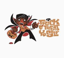 Trick O' Treat Yo Self (sticker) by Tom Kurzanski
