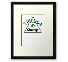 Titicaca camp ground funny campy trucker tee Framed Print