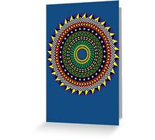 Trippy Mandala Greeting Card