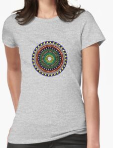 Trippy Mandala Womens Fitted T-Shirt