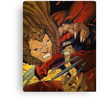Wolverine vs Sabretooth  Canvas Print