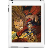 Wolverine vs Sabretooth  iPad Case/Skin