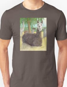 Llamas Lounging Farm Animal Pets Art Cathy Peek T-Shirt