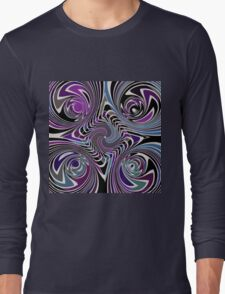 pattern meditation concentration and awareness Long Sleeve T-Shirt