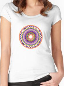 Funky Mandala Women's Fitted Scoop T-Shirt