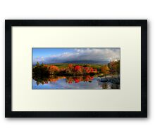 Reflections in Maine Framed Print
