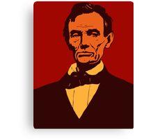 Abraham Lincoln vector pop art red Canvas Print