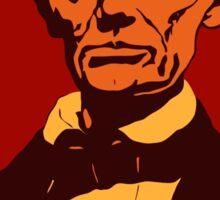 Abraham Lincoln vector pop art red Sticker