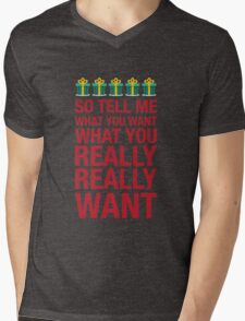 Tell me what you want... Mens V-Neck T-Shirt