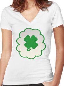 Good Luck Bear (high version) Women's Fitted V-Neck T-Shirt