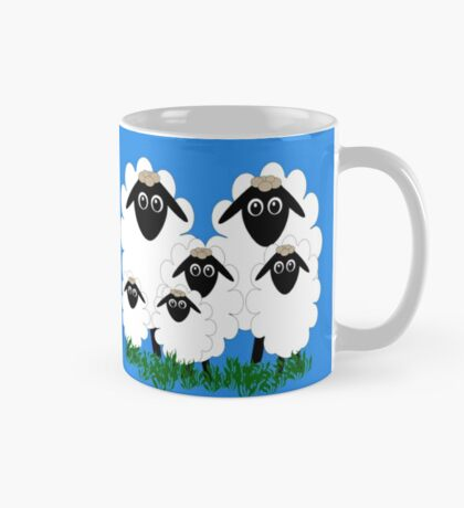 Flock of cartoon lambs Mug