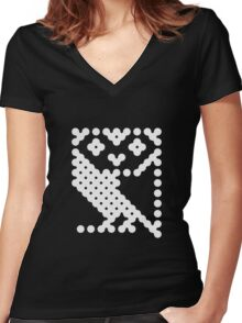 BBC Micro Owl Women's Fitted V-Neck T-Shirt