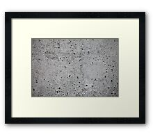 concrete wall    Framed Print