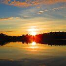 Round Lake Sunrise by Alex Call