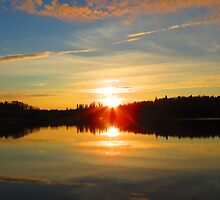 Round Lake Sunrise by Alex Call