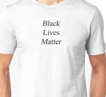 Black Lives Matter - White Unisex T-Shirt