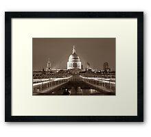 Millenium Bridge / St. Pauls, London, England, UK * Framed Print