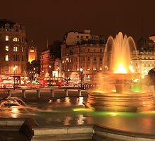 Trafalgar Square, London, England by Justin Mitchell