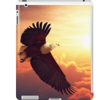 Fish Eagle flying above clouds iPad Case/Skin